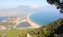 Beautiful Landscapes in Iztuzu Beach Dalyan Turkey